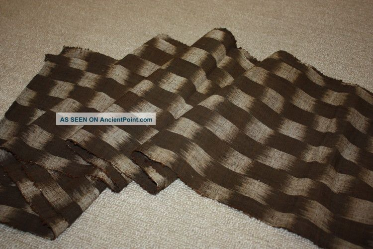Japanese Old Antique Thick Cotton Kasuri Hand - Spun Fabric Textie1900 - 1940 Kimonos & Textiles photo