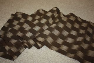 Japanese Old Antique Thick Cotton Kasuri Hand - Spun Fabric Textie1900 - 1940 photo