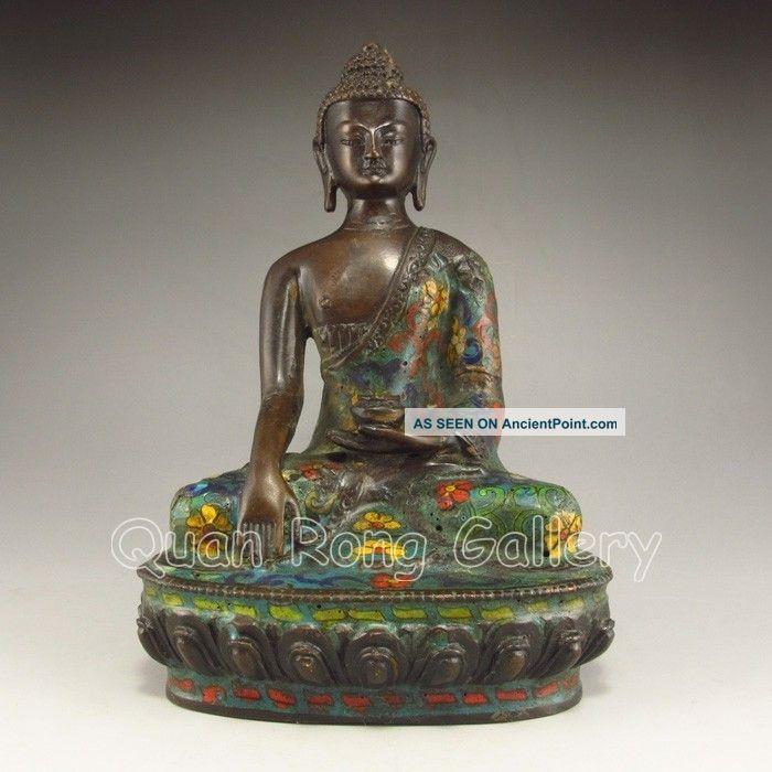 Chinese Cloisonne Statue - Buddha Nr Buddha photo
