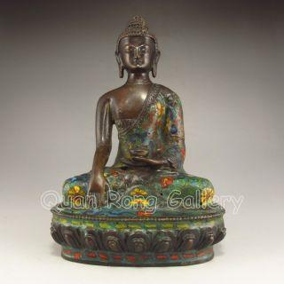 Chinese Cloisonne Statue - Buddha Nr photo
