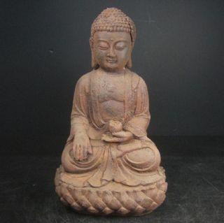 F751: Chinese Iron Ware Buddhist Statue With Very Good Iron Taste Big Size photo