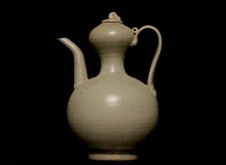 Chinese Antique Song Porcelain Ge Kiln Crackles Glaze Teapot Wine Pot 406te photo