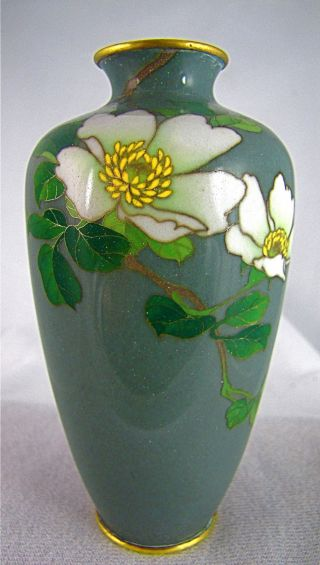 Fine Antique Japanese Meiji Cloisonne Silver Wire Vase Signed Gonda Hirosuke photo