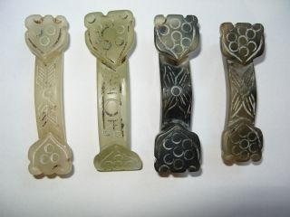 Four Chinese Carved Hard Stone Items photo