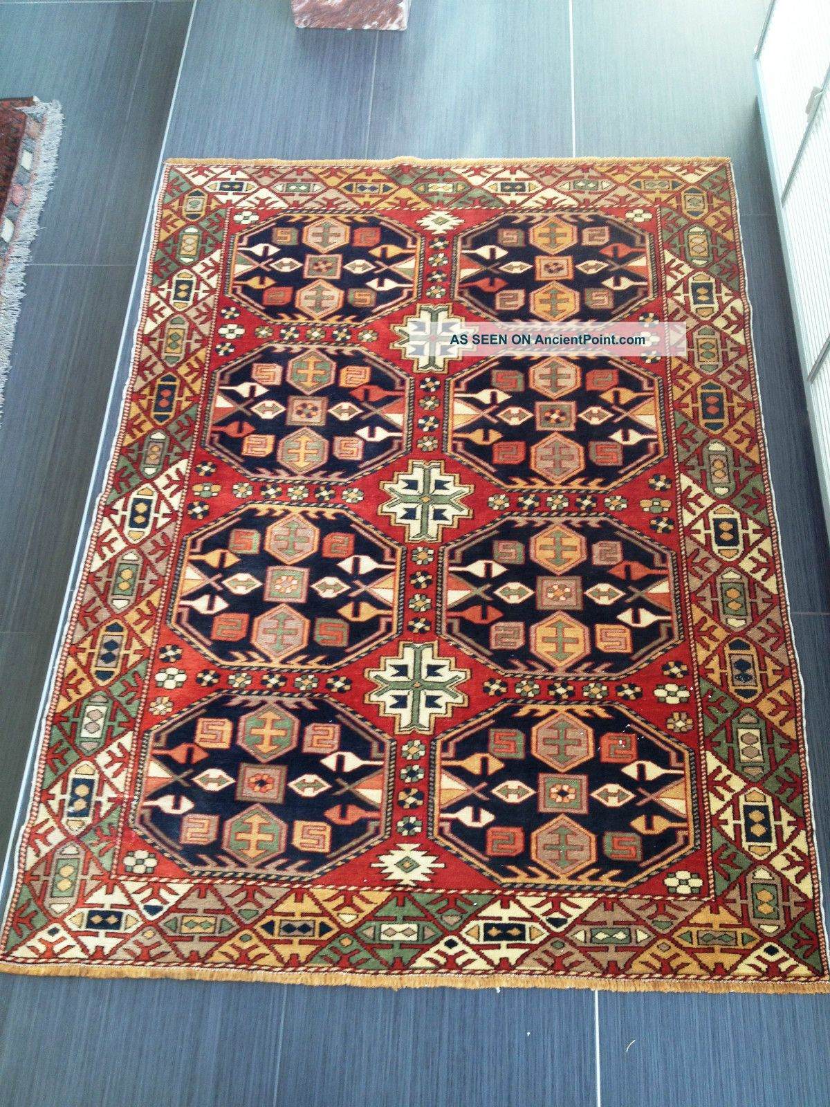 Large Antique Shirvan Caucasian Kazak Russian Oriental Wool Carpet Rug Fine Soft Other photo