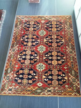 Large Antique Shirvan Caucasian Kazak Russian Oriental Wool Carpet Rug Fine Soft photo