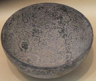 Very Old Chinese Earthenware Bowl photo