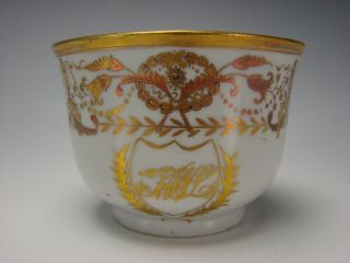 Antique Chinese Export Gilt Decorated Porcelain China Cup photo
