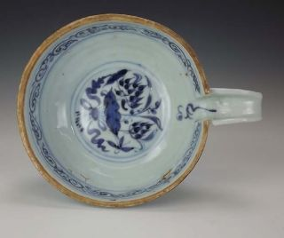 Antique Chinese Oriental Blue & White Bowl - Unusual photo
