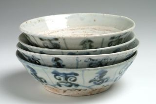 4 Antique Ching Or Qing Dynasty Rice Bowls photo