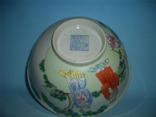 Antique Marked Famille Verte Chinese Porcelain Bowl photo