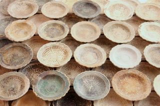 50 Chinese Antique Porcelain Saucers From A Shipwreck photo