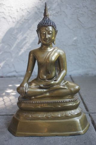 Vintage Shakyamuni Brass Buddha,  15 1/2
