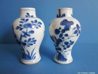 A Pair Of 18th Century Chinese Porcelain Miniature Vases,  Kanxi photo