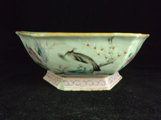 A Chinese Porcelain Famille Rose Bowl,  Bird photo