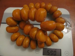 600 Grams African Large African Morocco Amber 30 Beads photo
