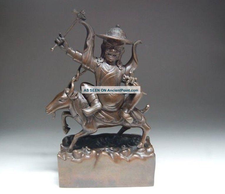 Rare Chinese Bronze Statue - Tibetan Buddhism Nr Buddha photo