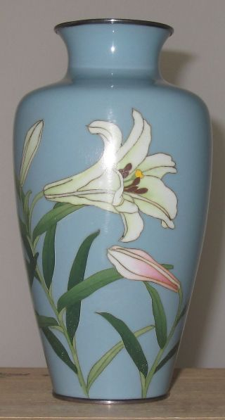 Very Fine Japanese Cloisonne Enamel Vase Signed By Gonda Hirosuke - Nagoya photo