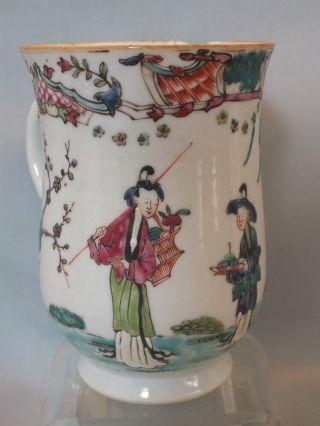 Chinese Porcelain Balaster Shape Tankard Painted Figures & Landscape Decor 18thc photo