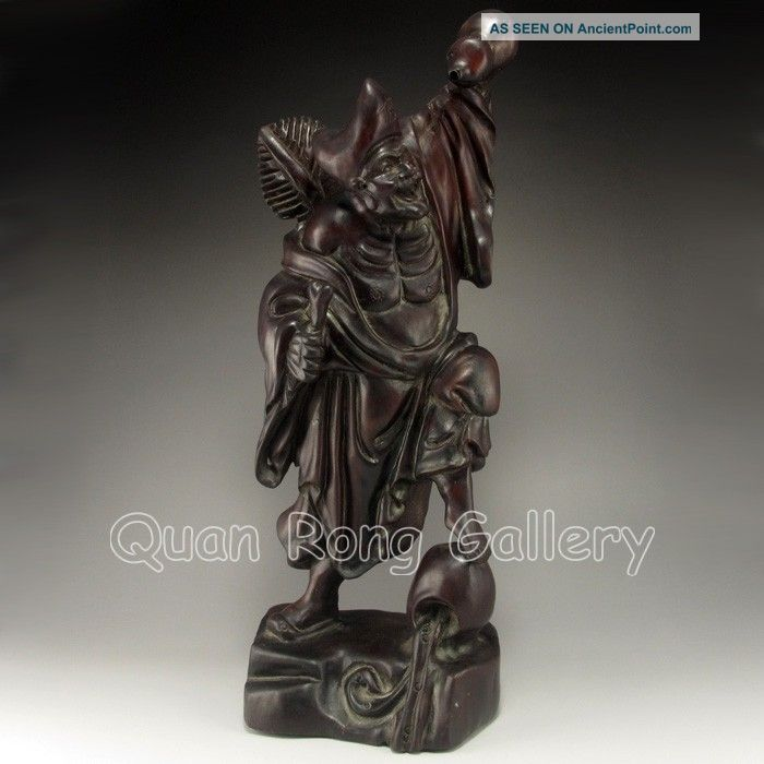 Chinese Hard Wood Statue - Buddha Jigong Nr Buddha photo