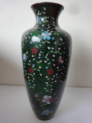 Very Fine Antique 19thcentury Japanese Meiji Period Cloisonne Ginbari Vase C1890 photo