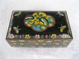 Anitque Vintage Chinese Enamel Art Deco Jewelry Box Cloisonne Nr Enameled photo