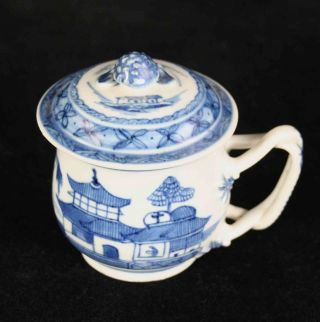 Antique Blue & White Canton China,  Chinese Export Porcelain - - - - - Syllabub Cup photo