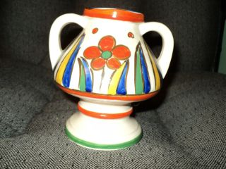 Vintage Hand Painted Vase - Japan Art Pottery/multi Colored photo