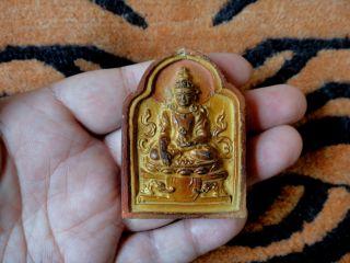 19th C.  Mongolian Tibetan Buddhist Tsa Tsa 『 Akshobhya Buddha 』 photo