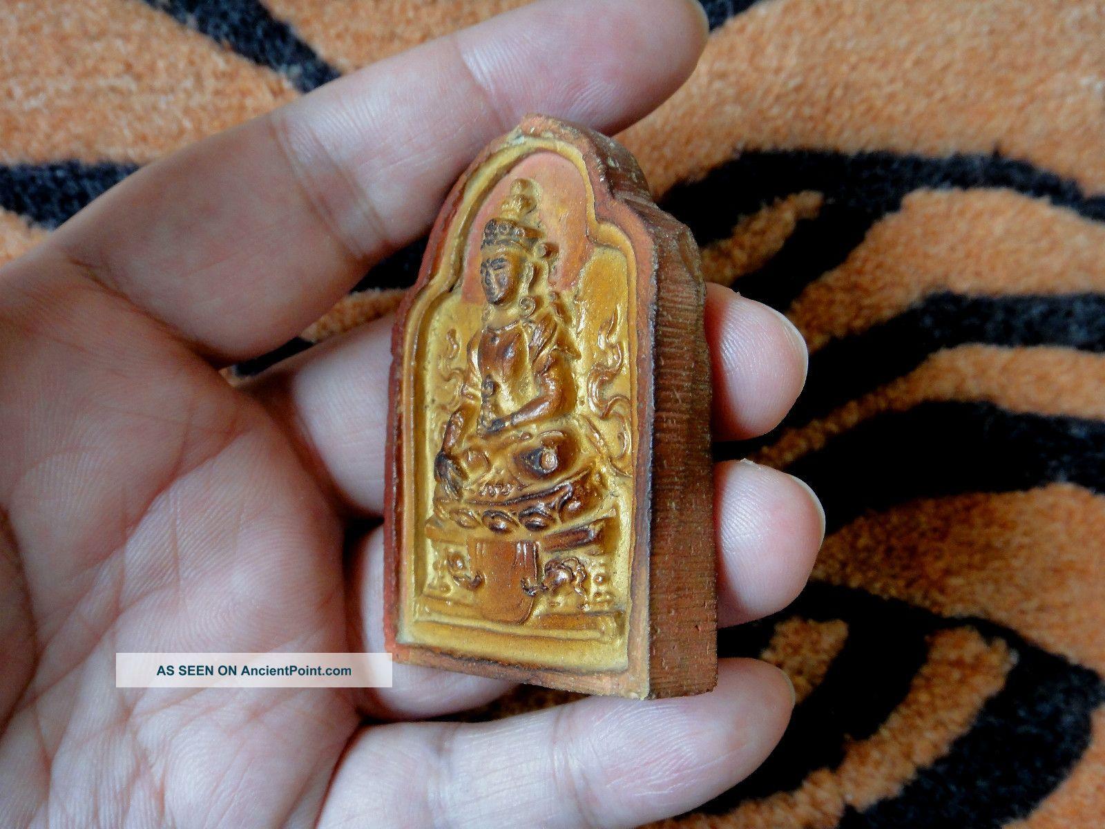 19th C  Mongolian Tibetan Buddhist Tsa Tsa 『 Akshobhya