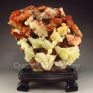 Chinese Shoushan Stone Statue - Goldfish Nr photo