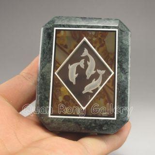 Chinese Natural Crystal & Jade Box Nr photo