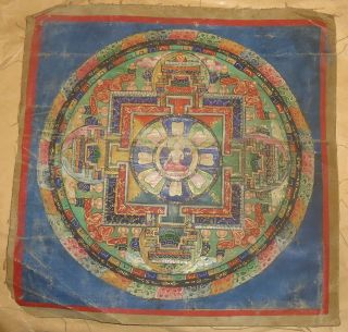 Mongolian Antique Buddhist Old Thangka 18cen - 19cen (rare) photo