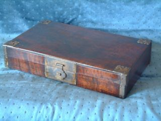 Antique Chinese Box 19th Century,  Hardwood Scholars,  Or Jewellry photo