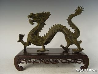 Large Chinese Bronze Dragon Statue 11
