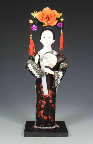 Chinese Silk And Satins Handwork Silk Figurine Statue photo