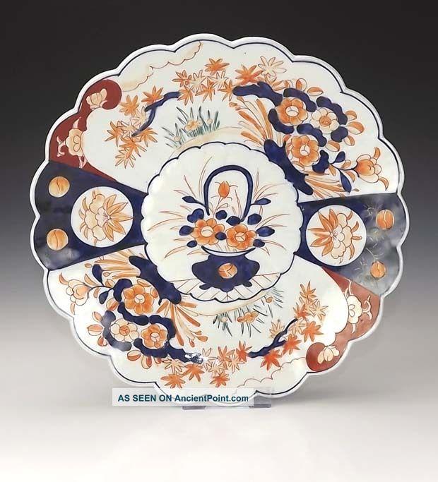 Antique Oriental Japanese Imari Charger - Unusual Porcelain photo