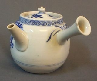 Small Chinese Porcelain Blue & White Teapot photo