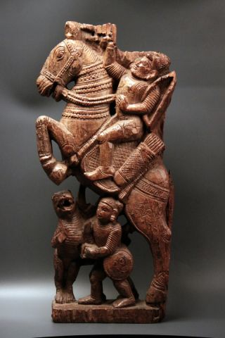 Wood Carving Vijayanagar - South India Circa 17th Century photo