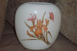 Vintage Japanese Japan Vase Iris Butterfly photo