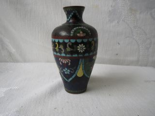 Antique Japanese Cloisonne Meiji Period Ginbari 4 1/3