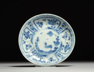 Antique Ca Mau Cargo Shipwreck Bird & Butterfly Chinese Porcelain Plate - 1723 photo