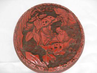 Rare Chinese Red Cinnabar Box photo