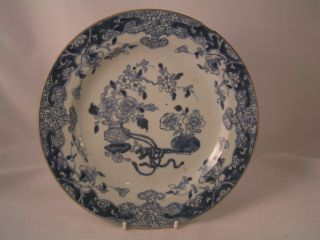 An Old 19th Century Blue And White Chinese Plate photo