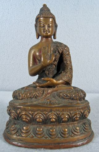 Chinese /tibetan Bronze Seated Buddha photo