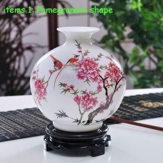 Amazing Chinese Bird And Plum Flower Vase Made 21th Home Decoration Three Shape photo