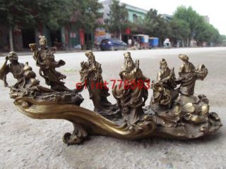 Chinese Ancient Legends Brass Eight Immortals Crossing The Sea Statues38 photo