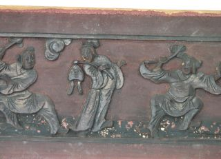 Late 1800s Antique Chinese Wood Carving From Old House photo