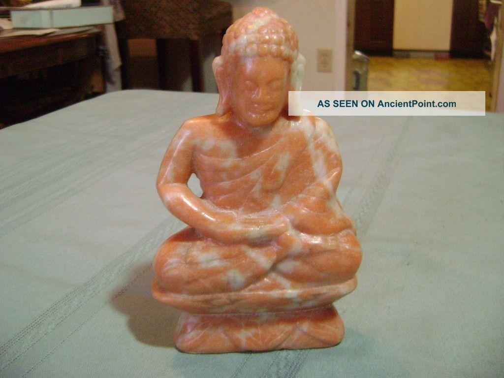 Vintage Marble Sitting Buddha Figure Buddha photo