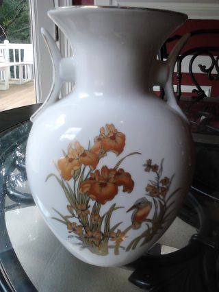 Amazing Japanese Antique White Vase photo